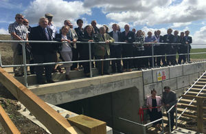 Partners involved in the scheme are present for the official opening