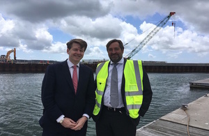 Robin Walker with Jim Stewart, Chief Executive of the Poole Harbour Commissioners