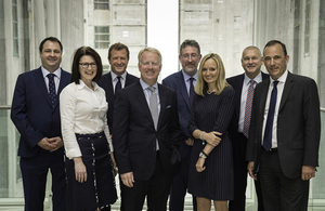 Senior representatives from HS2 Ltd and the winning contractors for Phase One