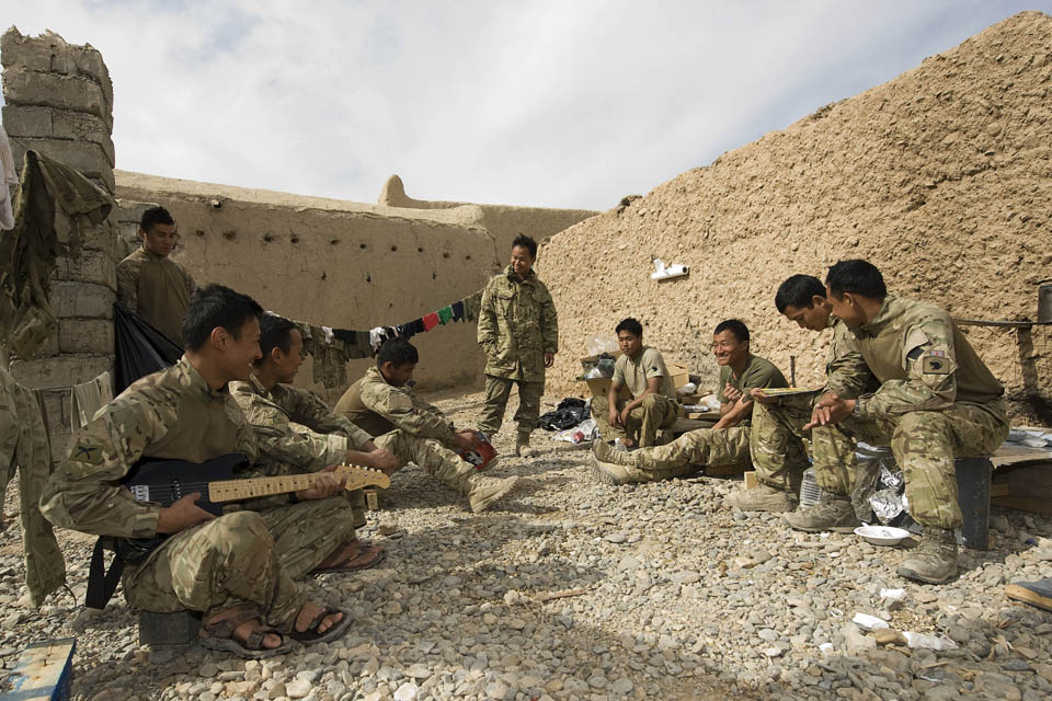 Soldiers relaxing at Patrol Base 4