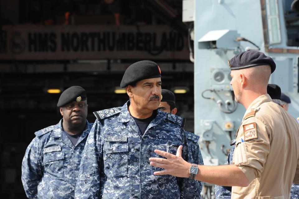 Brigadier General Ahmed Khalifa Salman Al Kahlifa visits HMS Northumberland