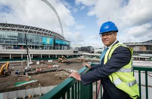 Housing Minister Alok Sharma at Wembley Park