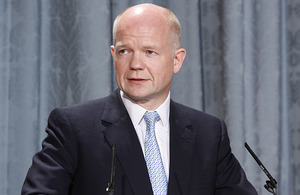 The Foreign Secretary William Hague.