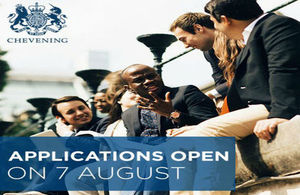 Chevening applications open on 7th August, 2017