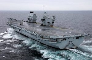 The UK's future flagship, HMS Queen Elizabeth.