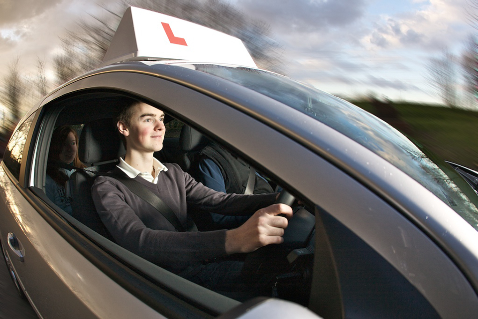 Driving school car
