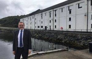Scottish Secretary David Mundell at Caol Ila Distillery