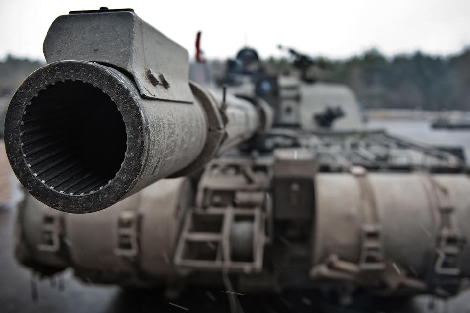 The Challenger 2's 120-millimetre-calibre tank gun