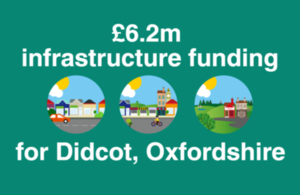 Infographic reads: £6.2 million infrastructure funding for Didcot, Oxfordshire