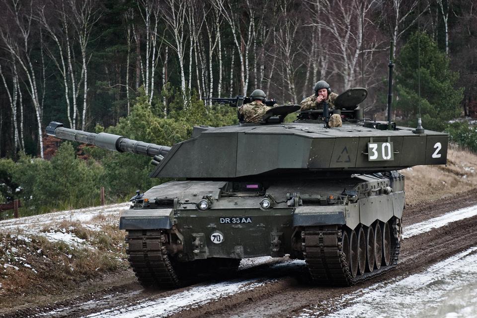 The Challenger 2 main battle tank