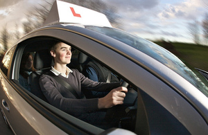 Picture of a learner driver.