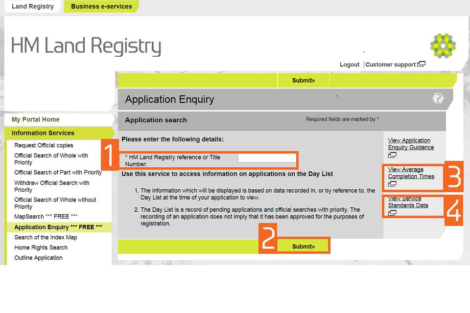 Land Registry Tr1 >> Hm Land Registry Portal Make An Application Enquiry Gov Uk