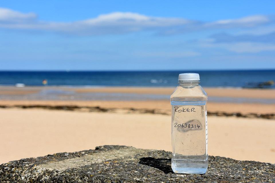 EA Sample bottle from Roker beach