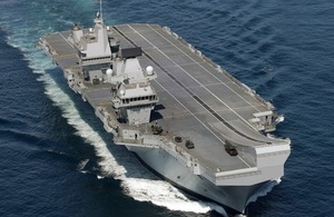 Britain's flagship Carrier HMS Queen Elizabeth