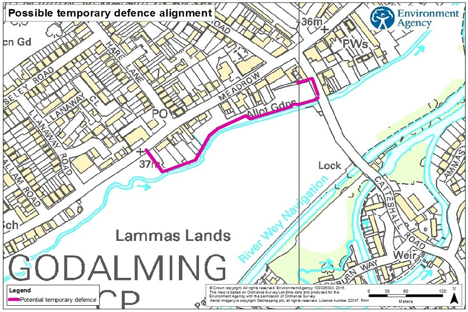 Possible temporary defence alignment in Godalming
