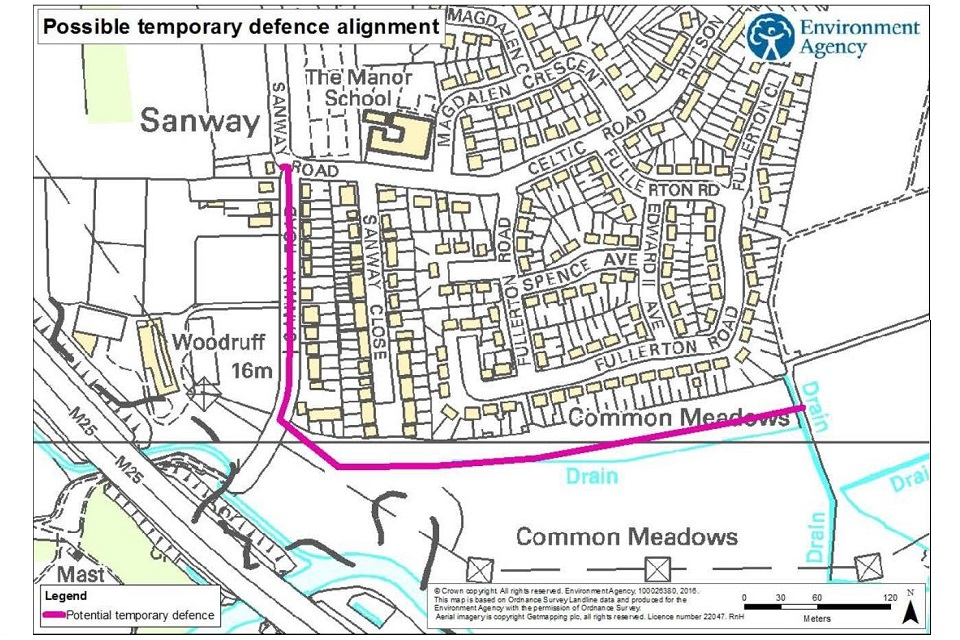 Possible temporary defence alignment in Sanway and Byfleet