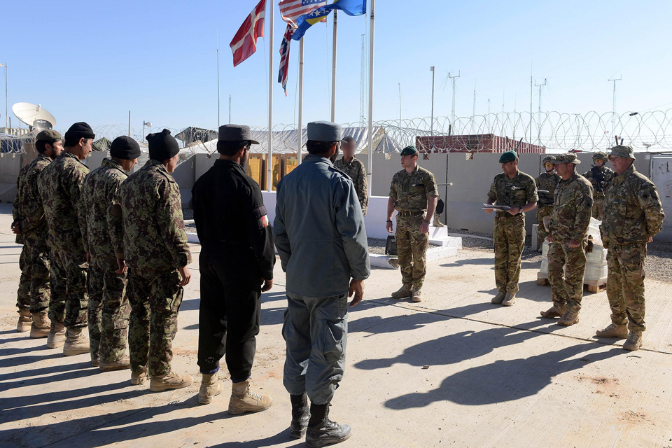 Newly-qualified Afghan explosives experts graduate from their training