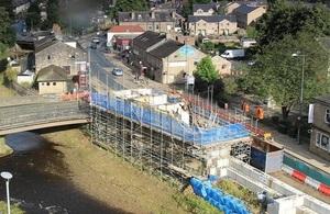 Image shows demolition at Burnely Road
