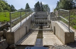 Image shows the new Hargreaves Dam at Cotting Burn in Morpeth