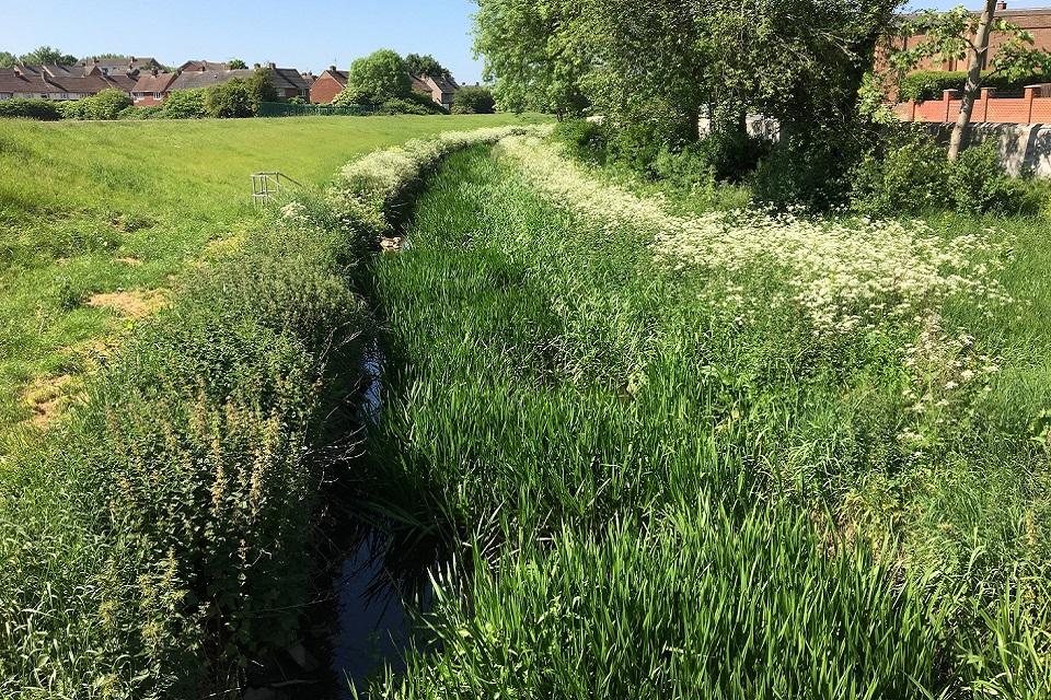 Images shows Lustrum Beck flood scheme