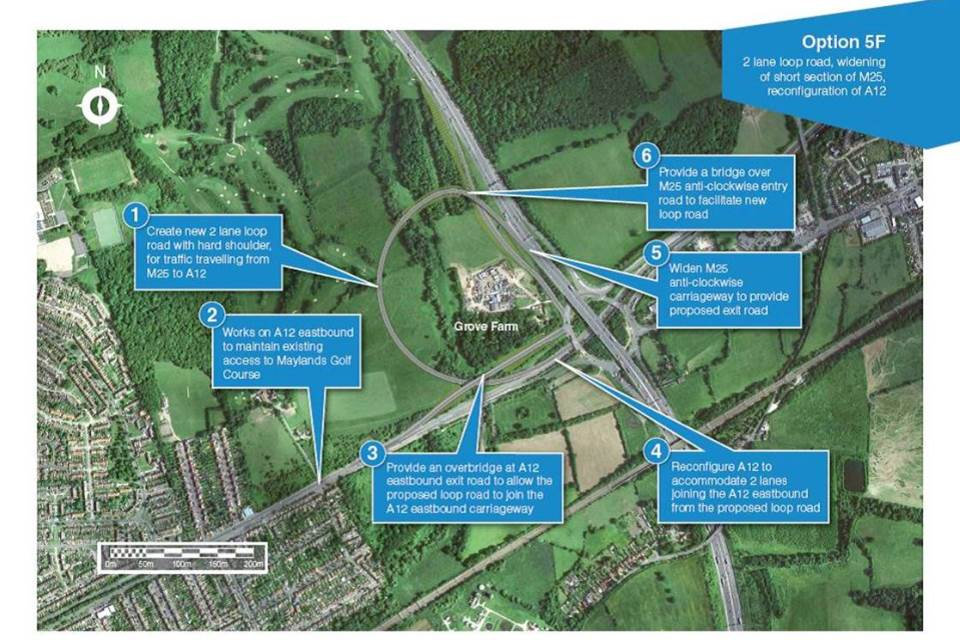 Proposed improvements to the M25 junction 28 roundabout