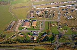 Aerial view of Alconbury Enterprise Zone