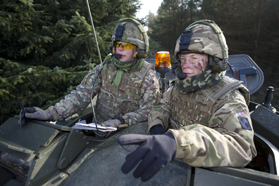 British and French soldiers on Exercise Steel Sabre