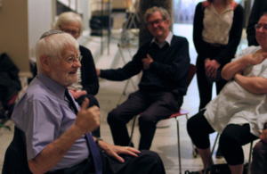 Bernd Koschland takes part in a Living Library sharing his experiences with V&A visitors