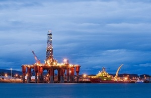 Oil rigs moored in Cromarty Firth. Invergordon, Scotland, UK (Credit: Berardo62)