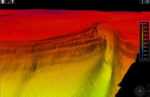 A 3D image of the Grand Canyon-style ocean floor beneath the Red Sea [Picture: Crown copyright]