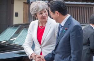 PM greets Prime Minister Shinzo Abe