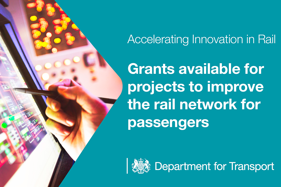 Grants available for projects to improve the rail network for passengers.