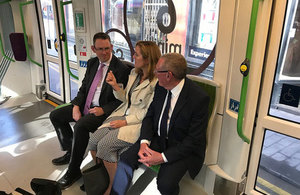 Paul Maynard with Laura Shoaf, Director of Transport for the West Midlands and Councillor Bob Sleigh OBE.