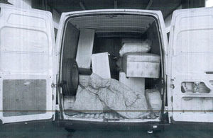 Attempted people smuggler's van