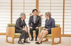 Prime Minister Theresa May meets the Emperor of Japan.