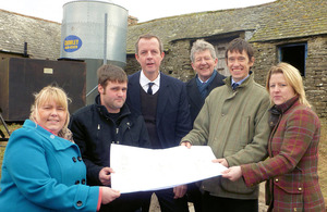 Eden residents hold up their Neighbourhood Plan