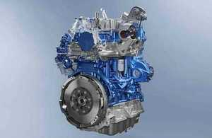 Product shot of new Ford Transit Ecoblue diesel engine