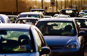 Drivers in traffic