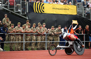 Action shot at Invictus Games