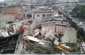 Damage from Hurricane Irma in the Caribbean. Picture: British Red Cross/Rode Kruis