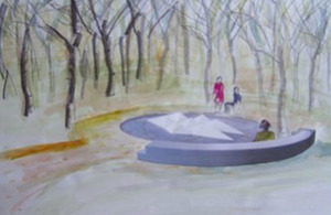 Artist's impression of planned memorial
