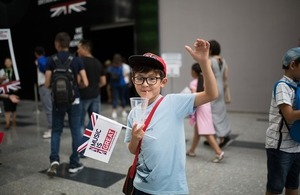 Visitor to UK Pavilion at Astana Expo