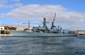 HMS Argyll alongside in Lisbon, Portugal [Picture: Leading Airman (Photographer) Pepe Hogan, Crown copyright]