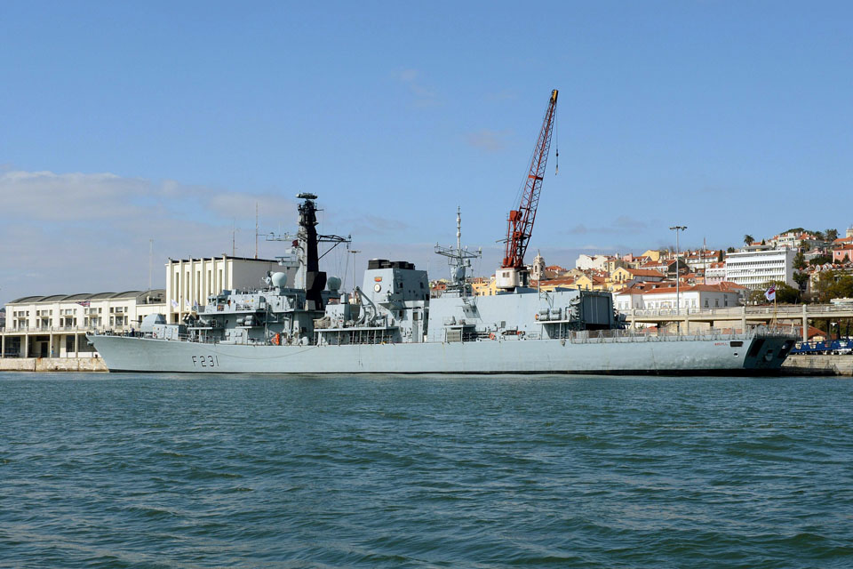 HMS Argyll alongside in Lisbon