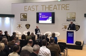 The Defence Secretary delivering the Keynote Speech at DSEI 2017
