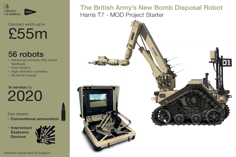 The British Army's new bomb disposal robot.
