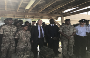 Governor John Rankin and Bermuda Minister for National Security Wayne Caines and the RBR & BPS