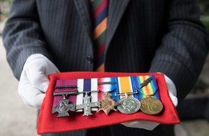 A selection of medals.