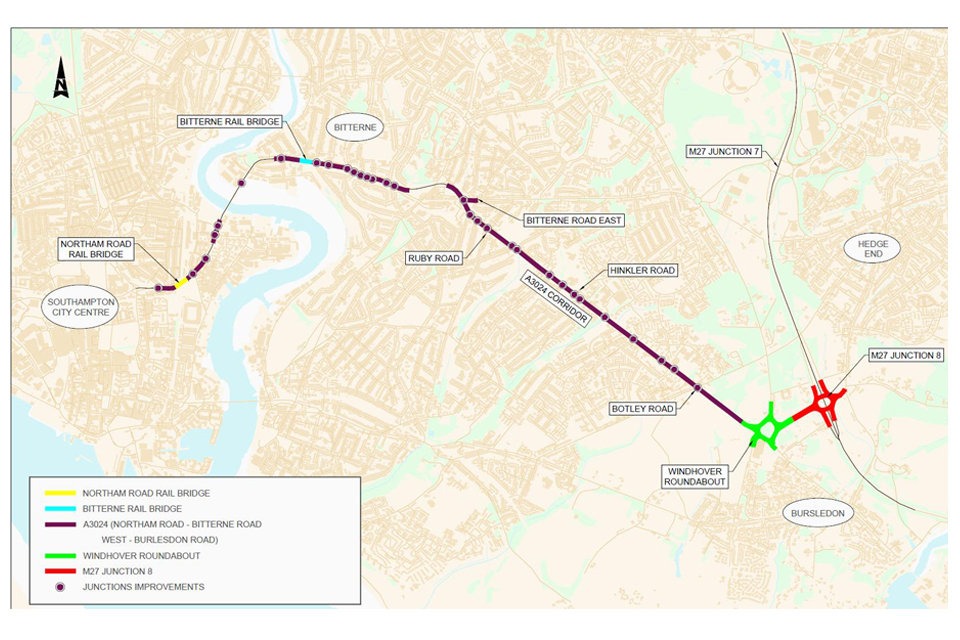 image of plan showing improvements for the eastern access corridor.