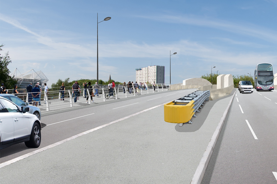 image showing visualisation of the new Northam Road Rail Bridge on the A3024 in Southampton